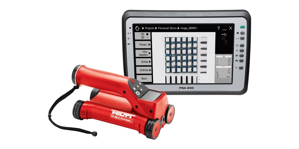 Hilti PS 250 Ferroscan Systeem en PSA 200 Tablet
