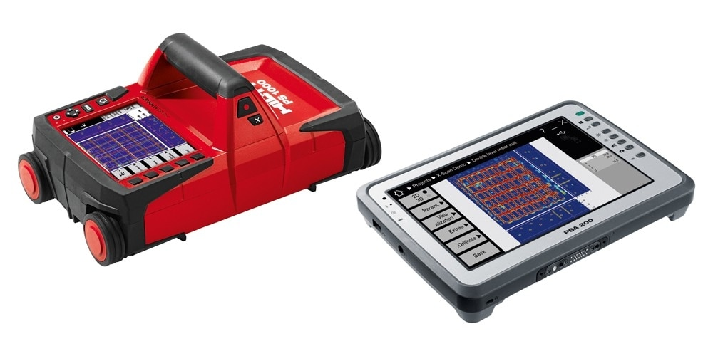 Hilti PS 1000 X-Scan detection systeem en PSA 200 Tablet