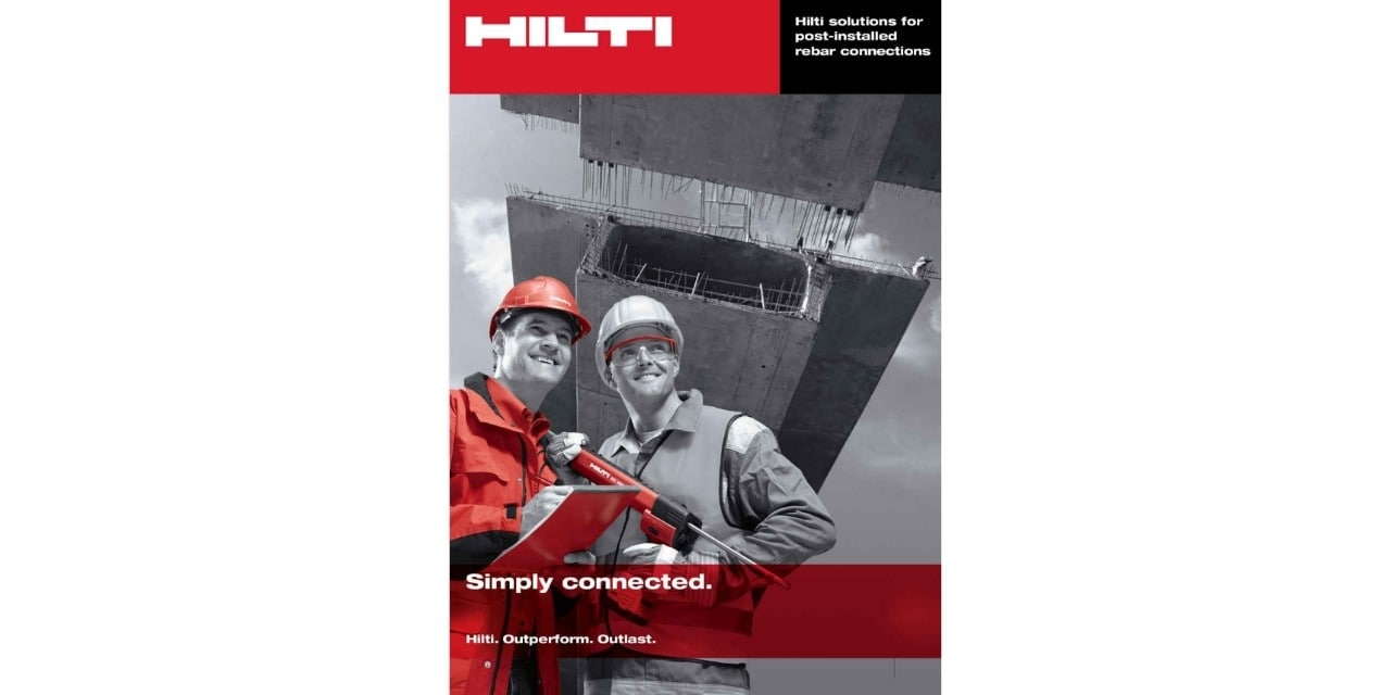 Hilti post-installed rebar guide