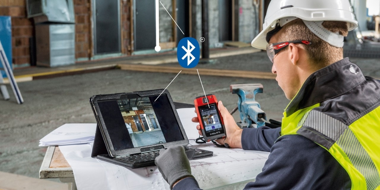 Hilti PD-CS laser range meter wi-fi, bluethooth, usb connection