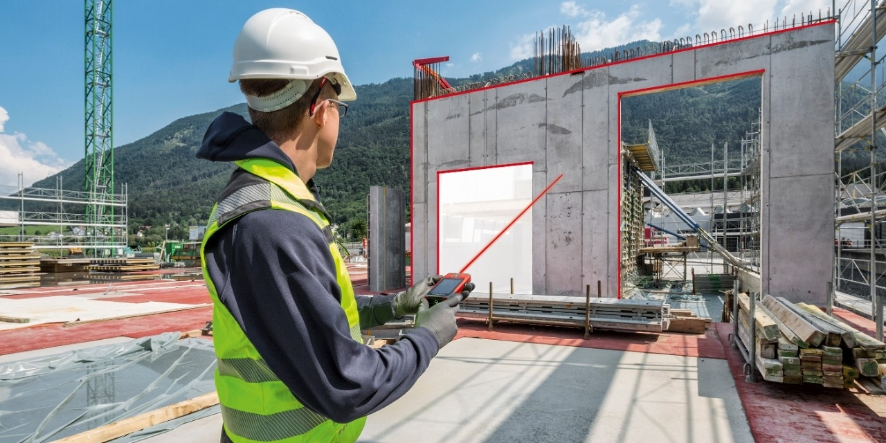 Hilti PD-CS laser range meter easy documentation functionality