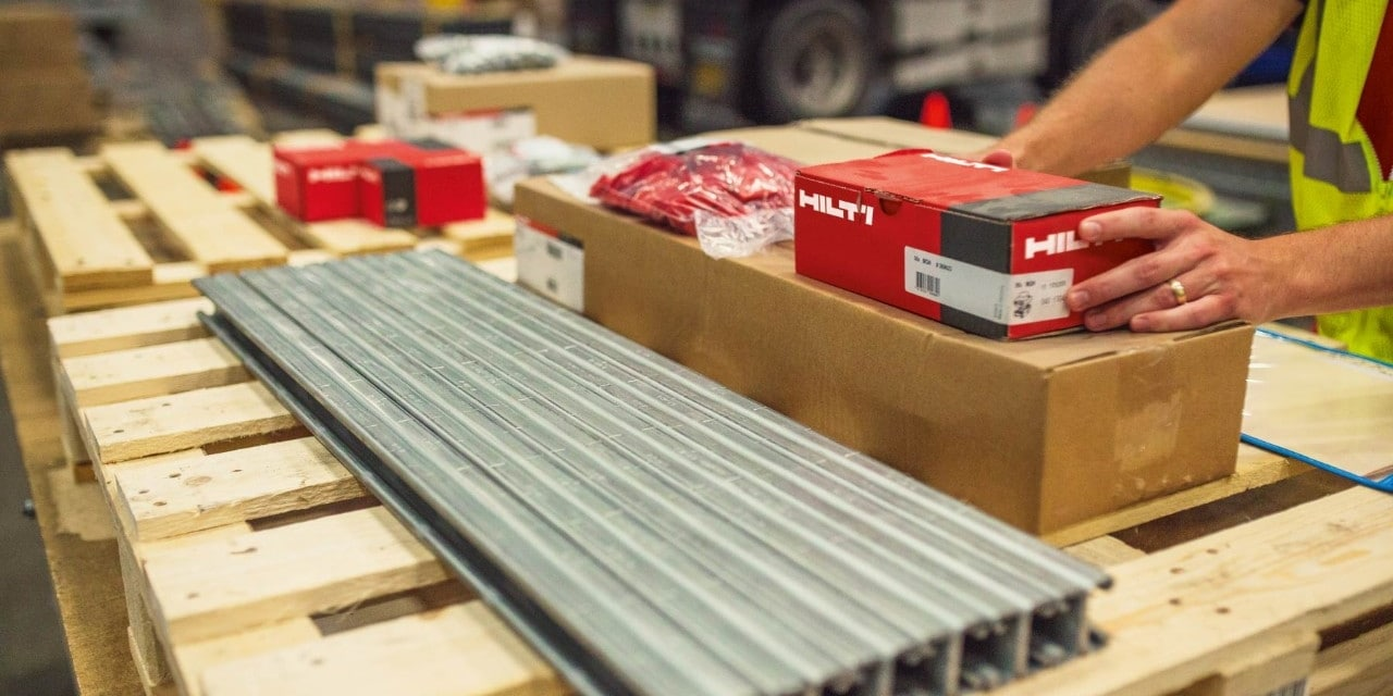 Hilti cutting service for support rails