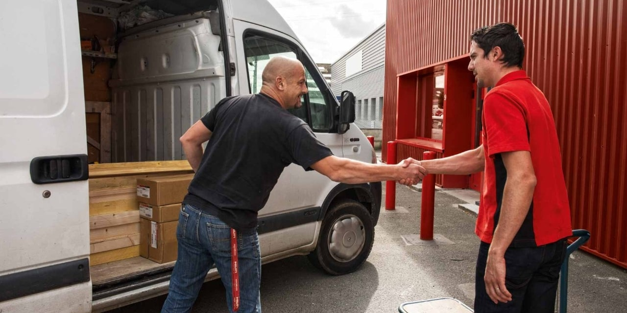 Hilti click and collect service