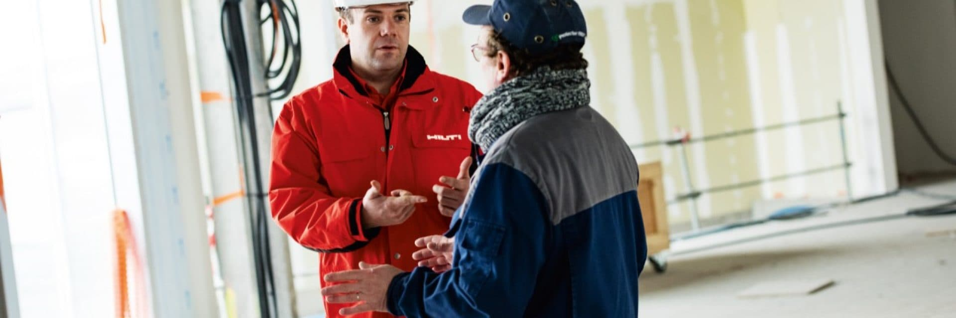 Hilti advice onsite and on the phone