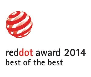 "Dit product is bekroond met de ""Best of the Best"" Red Dot ontwerponderscheiding."